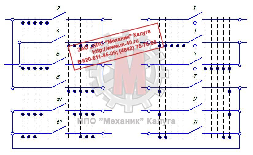 Обозначение командоконтроллера на схемах