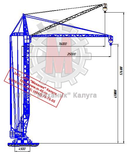 Башенный кран КБ 407