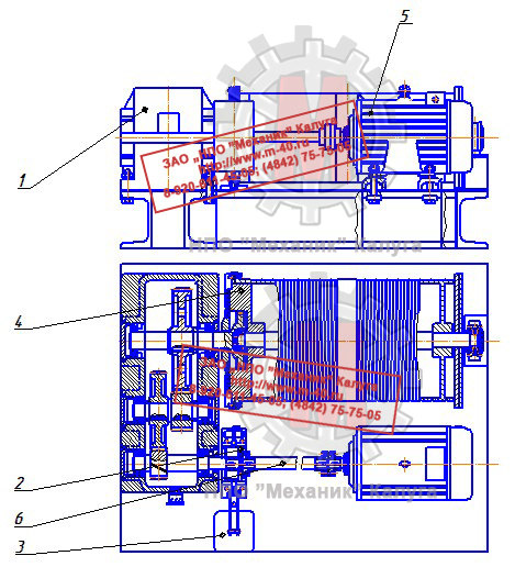 Механизм подъема крана ККС-10